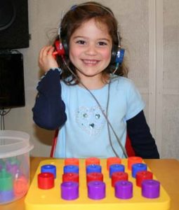 Hearing Test for a Child Patient